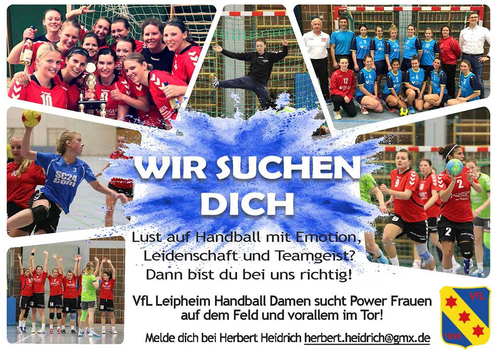 VfL Leipheim Handball sucht Spielerinnen